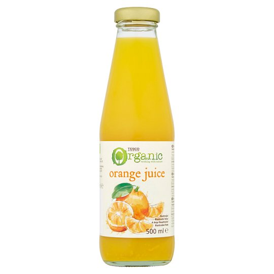 Tesco Organic Orange Juice 500ml