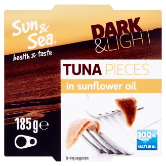 Sun & Sea Tuna Yellowfin Pieces in Sunflower Oil 185g