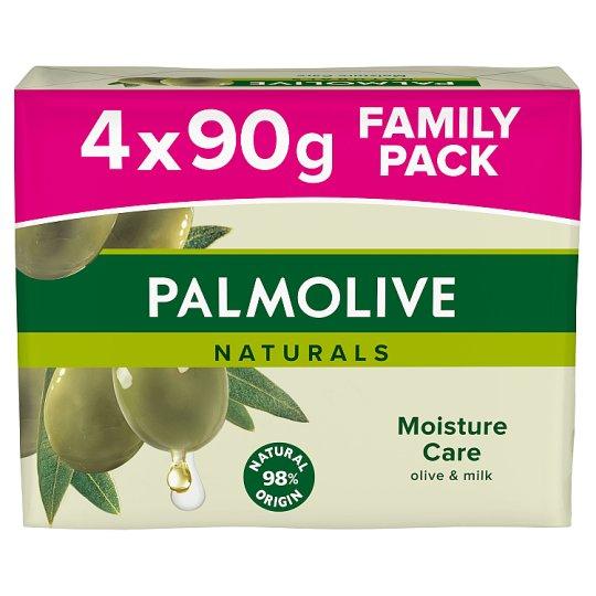 Palmolive Naturals Moisture Care tuhé mýdlo 4 x 90g