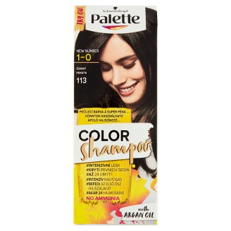 image 1 of Schwarzkopf Palette Color Shampoo Hair Color Black 113