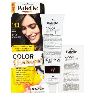image 2 of Schwarzkopf Palette Color Shampoo Hair Color Black 113