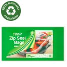 Tesco Zip Seal Bags Small 25 pcs