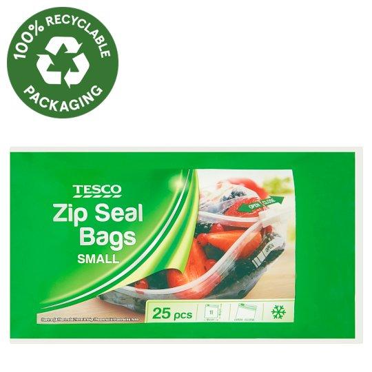 Tesco Zip Seal Bags Small 25 pcs