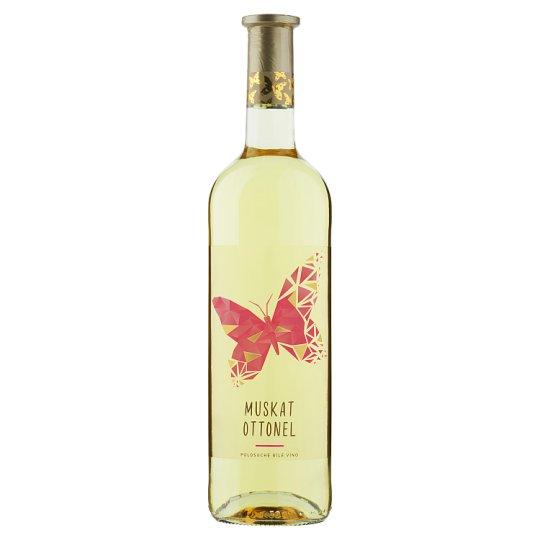 Víno Motýl Muškát moravský suché bílé víno 0,75l
