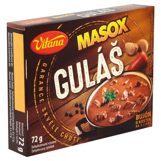 Vitana Masox guláš bujón 6 x 12g