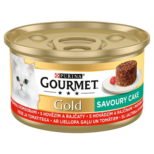 GOURMET Gold Savory Cake with Beef and Tomatoes 85g