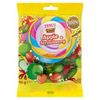 Tesco Candy Carnival Kandytová cukrovinka s šumivou náplní s jablečnou a jahodovou příchutí 100g