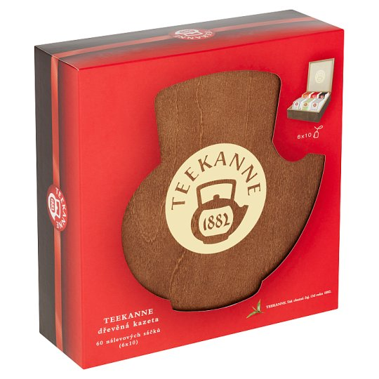 TEEKANNE Wooden Box, 6 x 10 Tea Bags, 126.5g