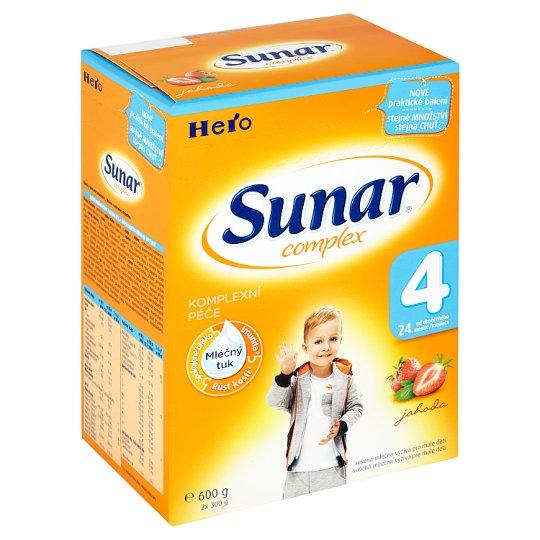 Sunar Complex 4 sušená mléčná výživa pro malé děti jahoda 2 x 300g
