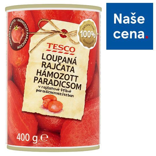 Tesco Peeled Tomatoes in Tomato Juice 400g