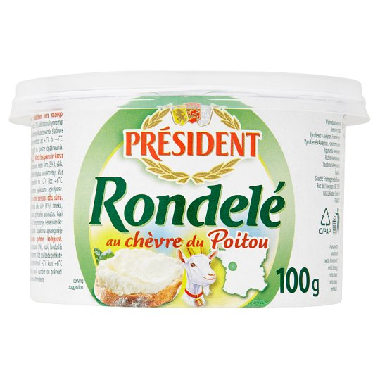 Président Rondelé Fresh Goat Cheese 125g