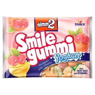 Storck Nimm2 Smile gummi ovocné želé s vitamíny a jogurtem z odstředěného mléka 90g