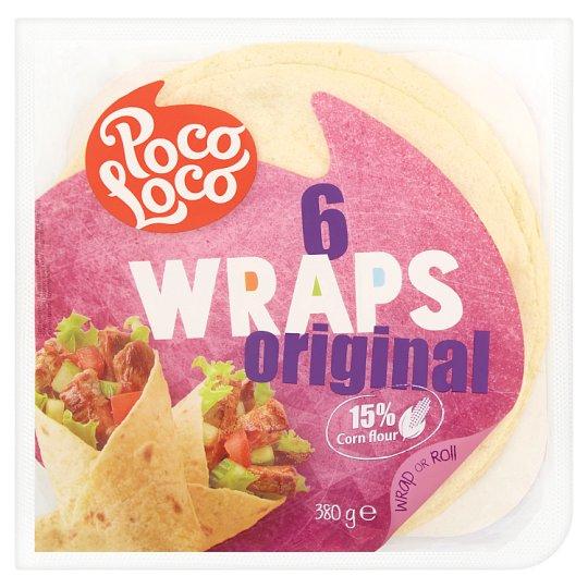 Poco Loco Wraps Original Wheat-Corn Pancakes 15cm 8 pcs 272g
