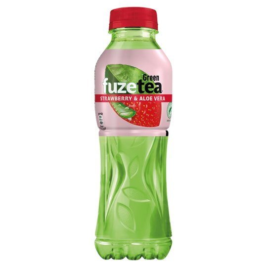 FuzeTea Strawberry Aloe Stevia zelený ledový čaj 500ml