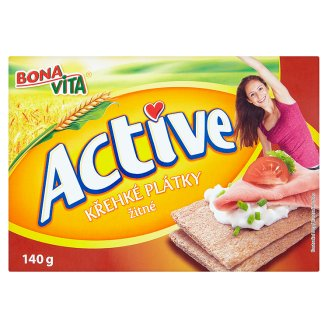 Bona Vita Active Křehké plátky žitné 140g