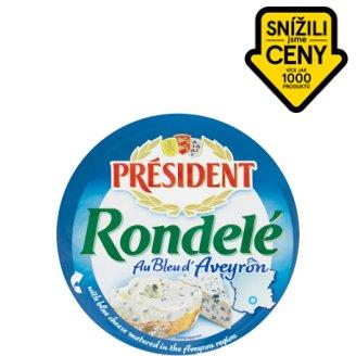 Président Rondelé Jemný smetanový sýr s ovčím sýrem s modrou plísní 100g