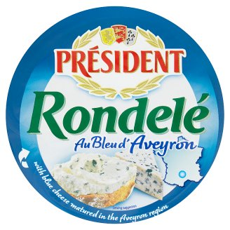 Président Rondelé Creamy Feta Cheese with Blue Cheese 100g