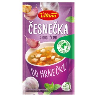 Vitana Do hrnečku Instant Soup Garlic Soup with Bread Roll 17g