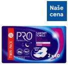 Tesco Pro Formula Night Plus dámské hygienické vložky s křidélky 2 x 10 ks