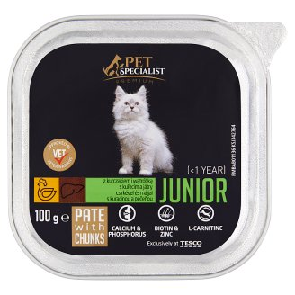 Tesco Pet Specialist Premium Junior Pate with Chicken and Liver 100g