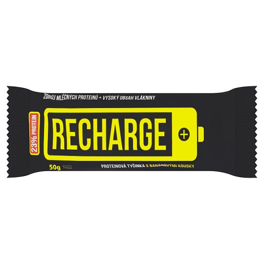 Rupa Recharge Protein Bar with Bannana Pieces 50g