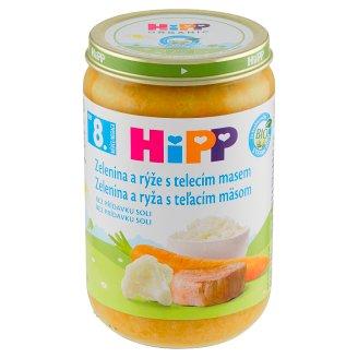 HiPP Bio zelenina a rýže s telecím masem 220g