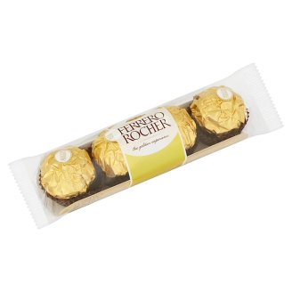 Ferrero Rocher Wafers Coated with Milk Chocolate and Crushed Hazelnuts, with Filling 50g