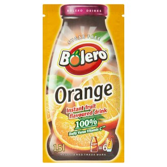 Bolero Orange Instant Fruit Flavoured Drink 9g