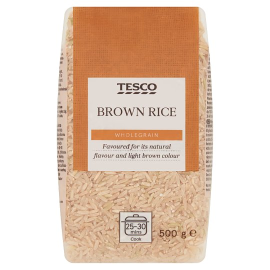 Tesco Wholegrain rýže dlouhozrnná 500g