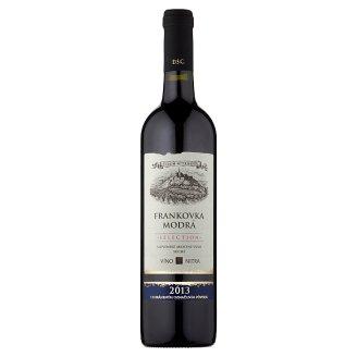 Víno Nitra Selection Frankovka modrá slovenské akostné odrodové víno červené suché 0,75l