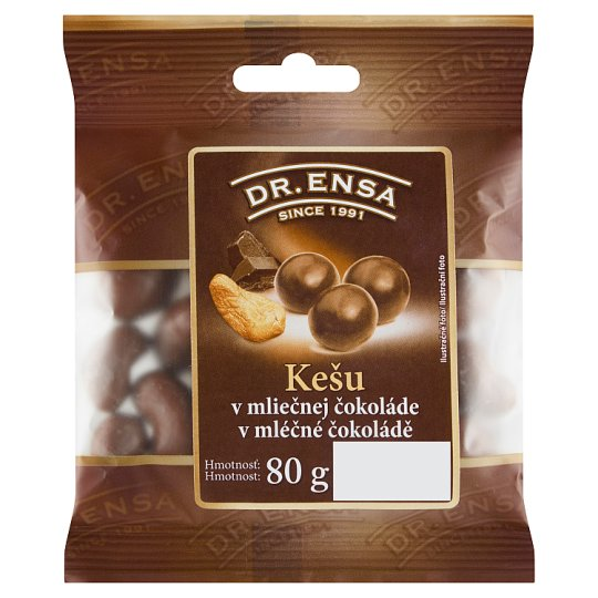 Dr. Ensa Cashew Nuts in Milk Chocolate 80g