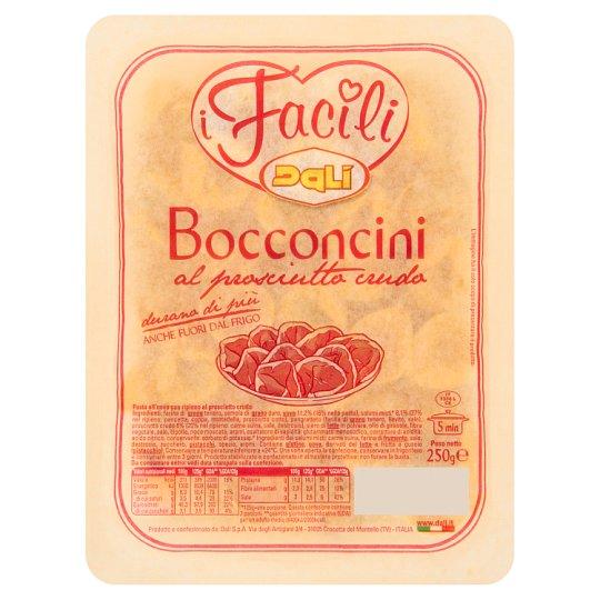 Dali i Facili Bocconcini vaječné nudle plněné syrovou zrající vepřovou šunkou 250g