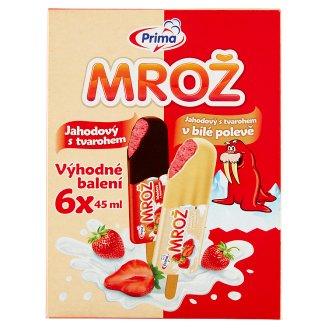 Prima Mrož Strawberry Cream Cheese Mix with Crunchy Topping Ice Cream 6 x 45ml