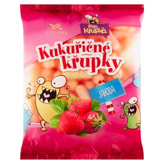 Rej Corn Puffs Strawberry 90g