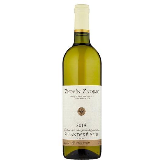 Znovín Znojmo Rulandské šedé odrůdové bílé víno jakostní ročníkové suché 0,75l