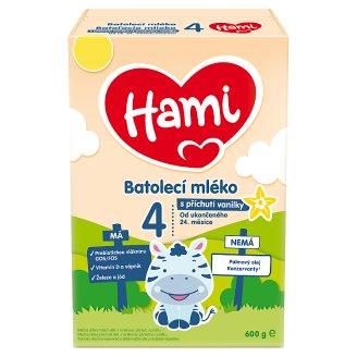 Hami 24+ Vanilka batolecí mléko s vanilkovou příchutí od uk. 24. měsíce 600g