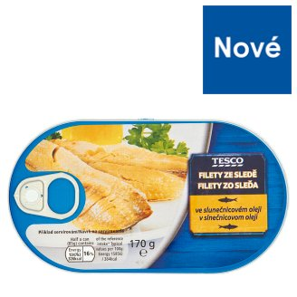 Tesco Herring Fillets in Sunflower Oil 170g