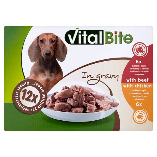 VitalBite Complete Pet Food for Adult Dogs 12 x 85g