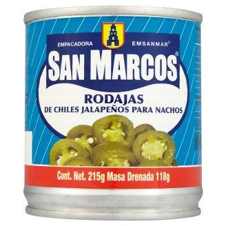 San Marcos Nacho jalapeňo papričky krájené 215g