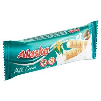 Alaska Kukuřičné trubičky plněné mléčným krémem 18g