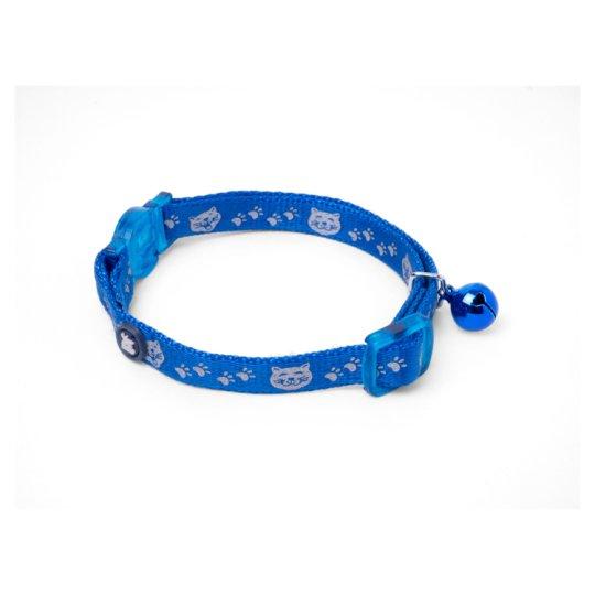 Petface Reflexní obojek pro kočky modrý