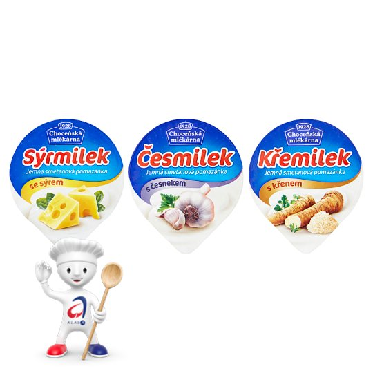 Choceňská mlékárna Česmilek jemná smetanová pomazánka s česnekem 80g