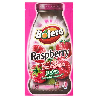 Bolero Soft Drink Powder With Raspberry Flavors, Sweeteners 9g