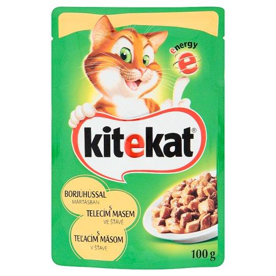 Kitekat Telecí maso ve šťávě kompletní krmivo pro dospělé kočky 100g