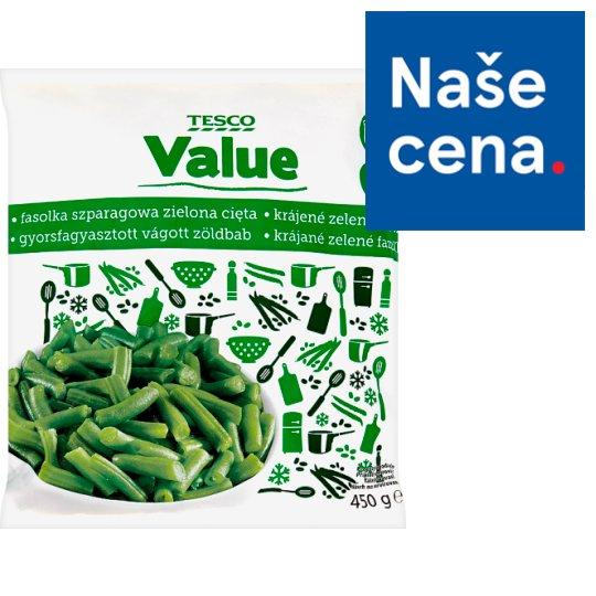 Tesco Value Krájené zelené fazolky hluboce zmrazeno 450g