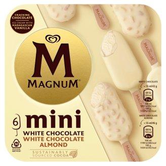 Magnum Mini White & Almond White vanilková zmrzlina 6 x 55ml