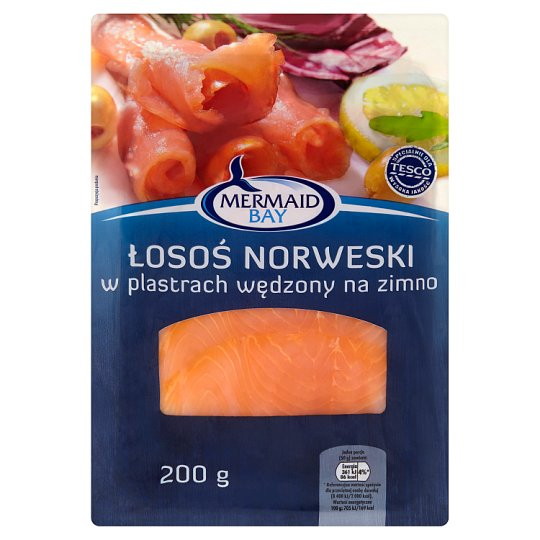 Salmon Salar Smoked with Cold Smoke, Slices 200g