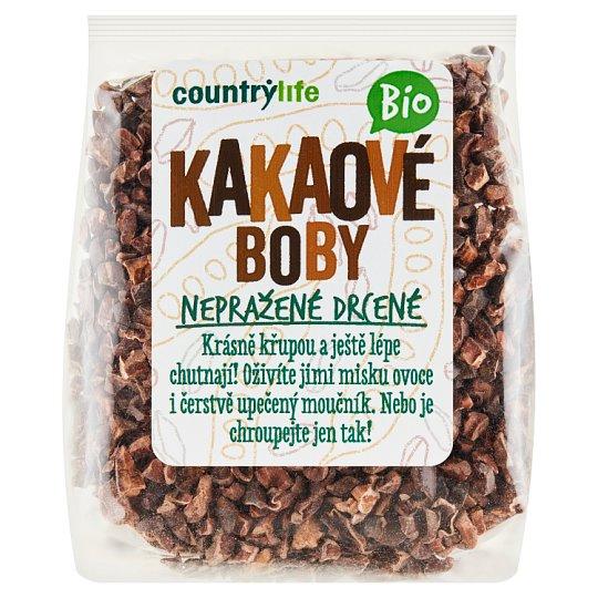 Country Life Bio kakaové boby nepražené drcené 100g