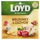 Loyd Bylinno-ovocný čaj aromatizovaný brusinky & zázvor 20 x 2g