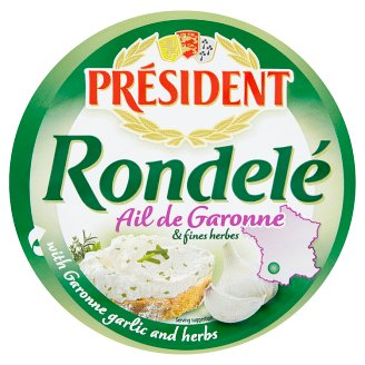 Président Rondelé Soft Spreadable Cheese with Garonne Garlic and Herbs 100g